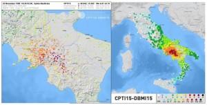 Figura 1. Mappa delle intensità del terremoto del 23 novembre 1980.